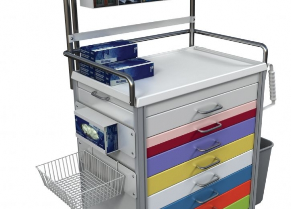 Cart of medical equipment